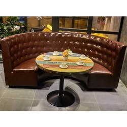 Leather Modern Restaurant Sofa