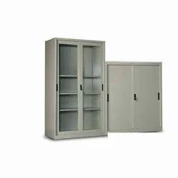 Double Door Steel Glass Door Cupboard, for Office