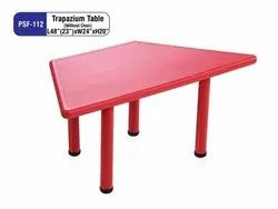 Red Trapazium Table