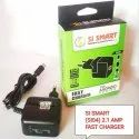 Si Smart Black 2.1 Amp Fast Mobile Charger, For Mobile Charging