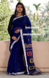 Cotton Silk Festive Wear Ethnic Handloom Designer Khadi Silk Saree, 6.3 m (with blouse piece)