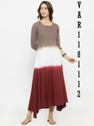 Voguish Multi Coloured Cotton Kurti