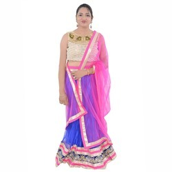 cb96d5dbd3 White, Pink Greenvilla Designs White Net Lehenga, Rs 1699 /set | ID ...