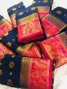 Naylon Silk Chit Pallu Saree
