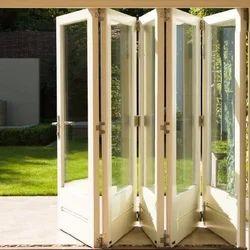 White UPVC Folding And Sliding Door