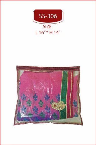 Maroon Plastic Single Saree Cover