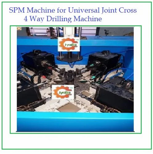 SPM Machine for Universal Joint Cross 4 Way Drilling Machine