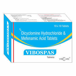 Dicylcomine Hydrochloride 10mg Mefenamic Acid 250mg