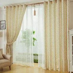 Polyester Rod Pocket Room Burnout Curtain
