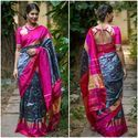 Traditional Pochampally Silk Saree, Length: 5.5 m Separate Blouse Piece
