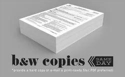 White Paper 70g/m B&W photo copy, Dimension / Size: A4