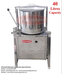 40 Litres Capacity Commercial Tilting Wet Grinder Light Box Type