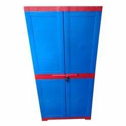 Reyo Red, Blue Kids Plastic Almirah, For Home