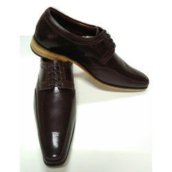 Brown Leather Plain Toe Shoes, Size: 5 - 11