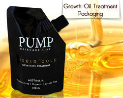 Spout Pouches /Growth Oil Treatment Packaging