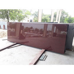 Caribbean Cherry Granite Slab, Thickness: 15-20 mm
