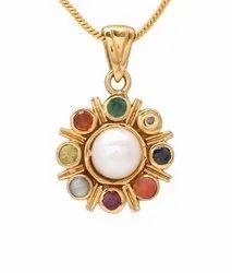 Navratan Pendent Natural and Gemstones