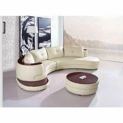 Round Leather Sofa Set