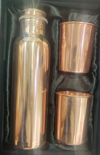 Divine Copper Copper Bottle Gift Set, Packaging Type: Box, for Gift Purpose