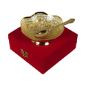 Dry Fruit Gold & Silver Plated Bowl Set