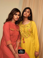 Four Buttons Presents Kurti Gown Catalogue Saga