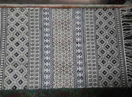 Woven Hand Block Printed Cotton Rugs