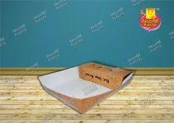 Avjo plastic Kraft paper Disposable Paper Food Tray, Ap029