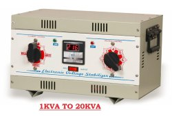 VOLTVARY Single Phase Manual Auto Cut Voltage Stabilizer, Warranty: 2 Year, 230v (adjustable)