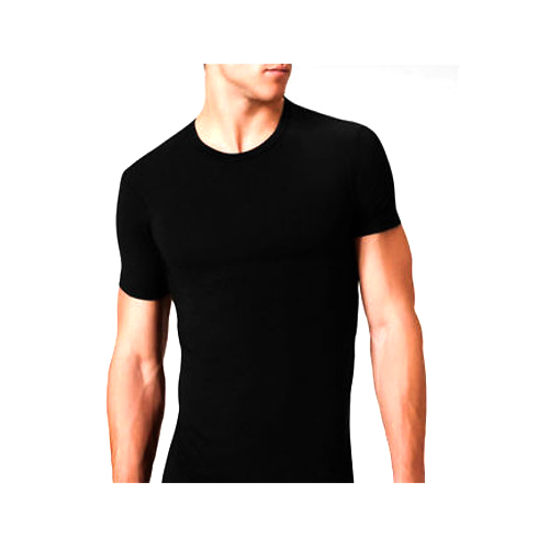 Mens Round Neck Black Plain T Shirt, Plain Gents T-Shirts, Plain ...