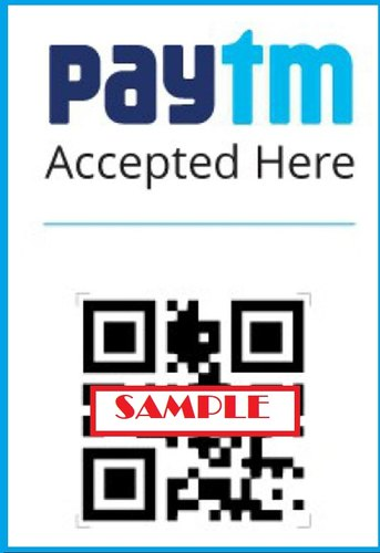 POS QR Code Paytm Stickers