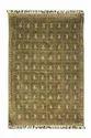 Green Rectangular Kosher - Handmade Cotton Floor Rug, Size: 48 In X 72 In