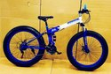 BMW Blue Fat Tyre Foldable Cycle