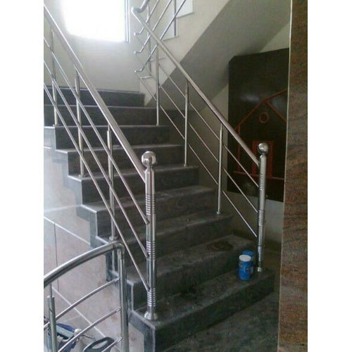 Straight Run Stainless Steel Staircase, Rs 14000 /meter ...