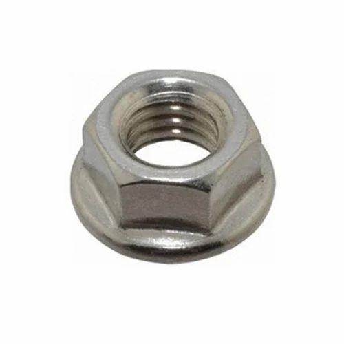 OMF Hex Flange Nuts, Rs 2.5 /piece, Om Fastner | ID: 16752995355