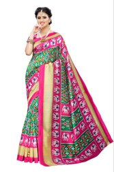Indian Style Patola Design Fancy Saree
