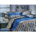 Blue Printed Double Bed Sheets