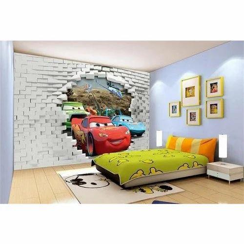 Pvc Printed 3d Kids Bedroom Wallpaper Rs 1500 Roll Unifi