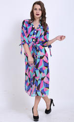 Multi Color Western Dress