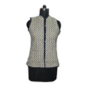 Cotton Button Ladies Quilted Jacket