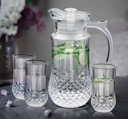 Glass Crystal Pitcher