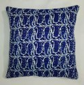 Indigo Hand Block Cushion Cover