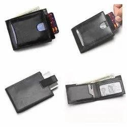 Leather card holder-RFID Protected