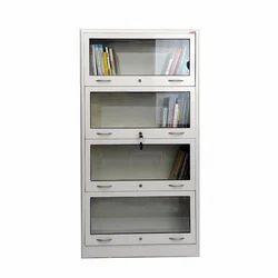 Silver Glass Door Bookshelf