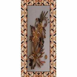 Flower Printed door skin paper print, Size: 39x84 Inch, Shape: Rectangular