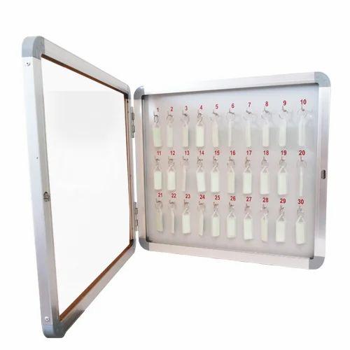 Glass Door Key Cabinet, Packaging Type: Box