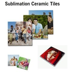 Ceramic White Sublimation Wall and Floor Tiles, For Indoor, Size: Depends on the design