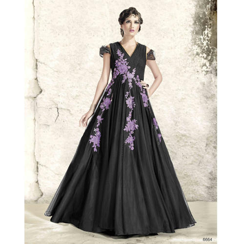 edd4aba386e The RCPC Designer Ethnic Net Black Gown at Rs 4299  piece