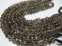 Natural Smoky Quartz Piramid Shape Faceted Beads 8-9mm Strand 10 inches Long