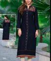 Ladies Black Embroidery Suit