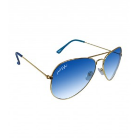 b3295d84c7c3 Golden Frame With Blue Gradient Glasses Sunglasses, Size: Medium, Rs ...